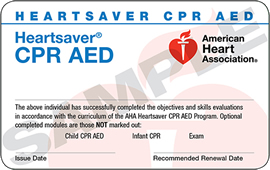 40 Bls Cpr Aed Training American Heart Association